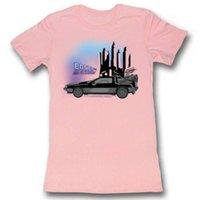 ingrosso junior camicia rosa chiara-Ritorno al futuro Juniors Girls T-shirt manica corta per bambini Car Light Pink