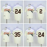 Wholesale fox cream - Cooperstown Houston Colts Baseball Jersey 24 Jimmy Wynn 35 Joe Morgan 2 Nellie Fox Mitchell and Ness Stitched Cream