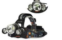 baterias de campismo preço venda por atacado-Melhor preço 5000 Lumen T6 + 2R5 Boruit Head Light Farol Cabeça Ao Ar Livre Lâmpada de Luz HeadLight Recarregável por 2x18650 Bateria de Pesca Camping