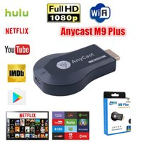 ios android için mirakast dongle toptan satış-AnyCast M9 Plus WiFi Display Dongle Receiver Support Chromecast Netflix Youtube 1080P HDMI TV DLNA Airplay Miracast for iOS Mac Android