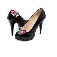 Wholesale pump clips - women shoes flower charms flats high-heel pumps sandals accessories crystal diamond shoes flower decoration buckle shoes clips