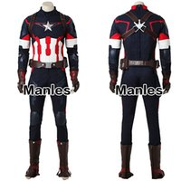 Wholesale female captain america cosplay for sale - ostume cosplay Captain America Cosplay Avengers Age of Ultron Costume Jacket Man Adult Fantasy Steve Rogers Halloween Suit Men Outfit C