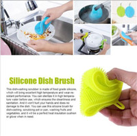 Wholesale lip cleaner resale online - Magic Cleaning Brushes Silicone Dish Bowl Scouring Pad Pot Pan Easy to clean Wash Brushes Cleaning Brushes Kitchen