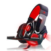 écouteurs basse led achat en gros de-Casque de jeu stéréo pour casque Casque d'écoute pour casque avec jeu de basses profondes avec micro LED pour PC Gamer