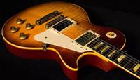 pro alter großhandel-1959 Flamme Ahorn Led Zeppelin Jimmy Page # 7 Tom Murphy Alter Relikt Sunburst E-Gitarre Ein PC-Hals-Körper, wenig Pin Tone Pro Bridge