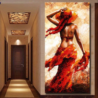 Wholesale paint art nude girls for sale - Handpainted Oil Painting On Canvas Nude Girl Poster Sexy Women Modern Abstract Figure Art Painting High Quality Wall Art Home Decor p403