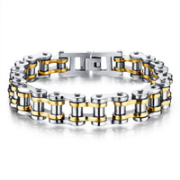 Wholesale mens 316l bicycle chain for sale - Group buy Biker L Stainless Steel Mens Bracelet Fashion Sports Jewelry Bike Bicycle Chain Link Bracelet Casual Jewellery Color