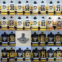 Wholesale Purple Mario - 2018 Stanley Cup Pittsburgh Penguins 87 Sidney Crosby 66 Mario Lemieux 30 Matt Murry 71 Evgeni Malkin 81 Phil Kessel Guentzel Jerseys