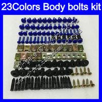 kit de tornillos gsxr al por mayor-Kit completo de tornillos de carenado para SUZUKI GSXR600 GSXR750 04 05 GSXR 600750 K4 GSX R600 R750 2004 2005 Cuerpo Tuercas tornillos kit de perno tuerca 25 colores