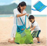 Wholesale Art Boxes For Children - Folding Baby Child Toy Storage Bags Beach Mesh Bag Child Bath Toy Storage Bag Cases Net Baskets for outdoor Hanging Big Volume BBA185