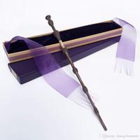 viejas cajas metálicas al por mayor-Nuevo llega metal / base de hierro Albus Dumbledore Varita antigua / Varita mágica de Harry Potter / Elegante caja de regalo con cinta Embalaje
