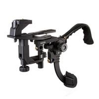estabilizador de cámara para dslr al por mayor-Fotga Hands Free Shoulder Support Soporte estabilizador de video para videocámara DV DSLR Camera Light