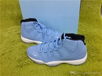 Wholesale Gift Boxes For Shoes - (With box)Air 11 Retro Size 12 Pantone Gift Of Flight XI UNC Blue watherproof Basketball shoes Unisex 304775-400 8-14 For Men