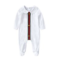 Wholesale wool clothes for babies resale online - Newborn Romper Cotton Lapel cotton protected Clothes for Baby Boy Girls Simple Fashion Soft Infant Clothing Set for M