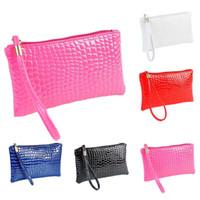 wholesale envelope red clutch bag 2018 - 2018 New Female Clutches Purse Fashion Crocodile Women'S Clutch Bag Pu Leather Women Envelope Evening Bag bolsa Feminina #TF