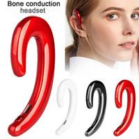 headset ohne mikrofon großhandel-Arbeiten Sie drahtloser Bluetooth-Kopfhörer-Knochen-Leiter um Ohrhörer ohne Ohrstöpsel Headsets no in Ohr Schmerzlose Earbuds mit Mic für Geschenk um