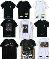 Wholesale Print Mix - 2018 T shirt mix 18 styles Classic Narciso Virgil Abloh Classic Short sleeve Tee size S-XL Cotton Fashion Print designer T shirt