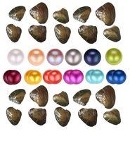 mélange sous vide achat en gros de-En gros environ 25 couleur naturelle D'eau douce Entière Perles Entières Huître, couleur mixte Perle D'eau Douce emballage sous vide