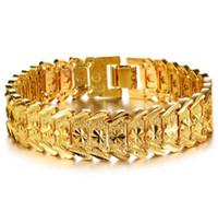 18k vergoldeter schmuck einzelhandel großhandel-Armband-Art- und Weiseprämienmänner-Schmucksache-Geschenk der Männer überzogenes Gold 18K, das Armband der Männer Groß- und Kleinhandel anredet Freies Verschiffen