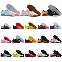 Wholesale Indoor Outdoor Turf - 2018 mens soccer cleats Tiempo Ligera IV IC TF TIEMPOX football boots turf indoor soccer shoes chuteiras de futebol TimpoX Finale leather