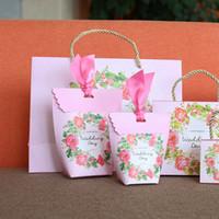 ingrosso scatole di caramelle per matrimoni-Matrimonio Contenitore di caramelle europeo Matrimoni creativi Sacchetto di zucchero Confezione regalo Cerimonia Scatole di imballaggio Sacchetti di cioccolato per feste 0 37dh2 gg