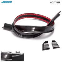 Wholesale Spoiler Lip - Black Carbon Fiber 4.9ft(150cm 1.5m) 45MM Car Body Trunk Rear Roof Lip Spoiler Wing Trim Mould Sticker ADJT1188