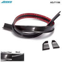 ingrosso fibra di carbonio dello spoiler posteriore-Tansky - Black Carbon Fiber 4.9ft (150 cm / 1,5 m) 45MM corpo Bagagliaio posteriore del tetto spoiler Ala Trim Mold Sticker ADJT1188