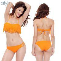 Wholesale womens sexy swimwear online - New Pattern Fashion Womens Swimsuits Bathing Suit Lady Fringed Swimwear Beachwear Sexy Two Piece Suits Bikini yh W