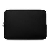 macbook siyah kasası toptan satış-Yumuşak Dizüstü Astar Kol Çantaları 11 12 13 14 15 17 inç Laptop Çantası Siyah Kılıf Için Macbook Hava Pro Retina Xiaomi Hava Saklama Çantası