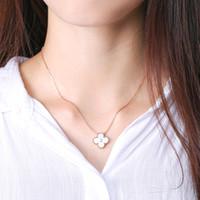 Wholesale Mother Pearl Jewellery - V diamond necklace Paris clover pendant necklace love expend glory riches necklaces 1906 Mother of Pearl Jewellery