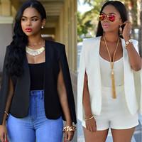 siyah bayanlar ceket moda toptan satış-Yeni Moda Kadınlar Bayanlar Siyah Blazer Resmi Ceket kadın Beyaz Blaser Rosa Kadın Kadın Takım Elbise Ofis Bayanlar 2018