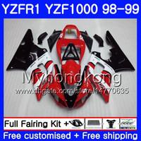 Wholesale 24 frames online - Bodywork For YAMAHA YZF R YZF YZF1000 red black stock YZFR1 Frame HM YZF YZF R1 Body YZF R1 Fairing