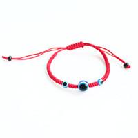 bracelet de mauvais oeil pour les hommes achat en gros de-Chaîne Rouge Trois Evil Eye Bracelets Pour Femmes Hamsa Tressé Corde Bracelet Hommes Mode Enfants Bijoux Cadeaux