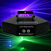 Wholesale red eye usa - LED Stage Light Dj Equipment Red Green And Blue Six Eyes Scanning Laser Lights KTV Rooms Full Color Laser Lights Bar Stage Lighting
