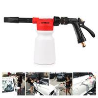 wasserpistole für autowäsche großhandel-900ml Auto Waschschaum Pistole Schneeschaum Lanze Kanone Auto Wasser Seife Shampoo Sprayer Schaum Blaster