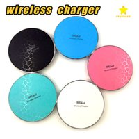 Wholesale Qi Wireless Charger Transmitter Iphone - Q13 Qi Wireless Charger Transmitter for iPhone 7 8 Plus Samsung Galaxy S7 S8 with Retail Package