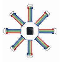 тканевые наручные часы оптовых-Группа для Apple Watch розовые полосы тканые нейлон ткань пряжки ремешок для часов 38 мм 42 мм Спорт ремешок для iWatch 3/2 Часы Аксессуары