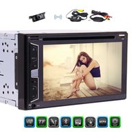 Wholesale wireless dvd player mp3 online - Wireless Rear Camera quot Double Din Autoradio Car DVD CD Payer WinCE Preset Ui Bluetooth SWC FM AM RDS Radio P Subwoofer