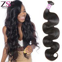 ingrosso treccia indiana dei capelli umani-ZSF Body Wave Bulk Human Hair 10A capelli umani brasiliani indiani di alta qualità dell'onda del corpo dell'onda del corpo dei capelli umani 1 Bundles