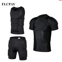 Wholesale gear clothing resale online - New Honeycomb Sports Safety Protection Gear Soccer Goalkeeper Jersey Shorts Vests Outdoor Football Padded Protector Gym Clothes