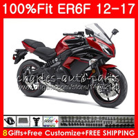 Wholesale new fairings kawasaki ninja for sale - Injection For KAWASAKI NINJA R ER6F HM Ninja650R ER F ER F New red black Fairings