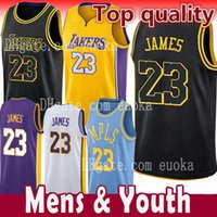 Wholesale youth basketball jerseys - Men Youth Kids 23 LeBron James Jersey Los Angeles 2018 NEW Lakers LeBron James 2 Ball 0 Kuzma the city Basketball Jerseys Size S-XXL