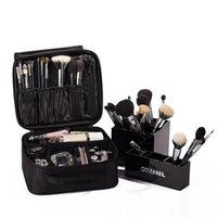 organizer taschen für reisen großhandel-Schönheit Kosmetiktasche Hohe Qualität Reise Kosmetischer Veranstalter Reißverschluss Tragbare Make-Up Tasche Designer Stamm Kosmetiktaschen