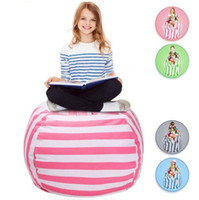 Wholesale Kids Boxing Bag - Kids Stuffed Animal Storage Bean Bag 18inch Cotton Canvas Organizer Box Organization Sack Chair Portable Clothes Storage OOA4637