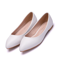 dd5bec973ca2b Pregnant Woman Office Online Shopping - Pregnant Women Flats Shoes White  Color Simple Pointed Toe Shoes