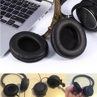 kulaklık seti kulak minderi toptan satış-Yumuşak Yedek Kulaklık Kulak Pedleri Yastık PU Deri Yumuşak Köpük Kulaklık Sony MDR-V700DJ V500DJ