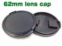 capuchons d'objectif de 62 mm achat en gros de-10pcs 62mm Snap-On Lens Camera Front Cap Couverture sans corde pour filtre 62mm DSLR Protector
