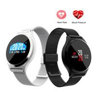 pantalla m7 al por mayor-M7 / Y7 HR BP Reloj inteligente Presión arterial Monitor de ritmo cardíaco 0.96 '' Pantalla redonda colorida Deportes Fitness Tracker SmartWatch pulsera PK K88H
