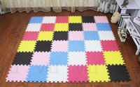 tapis de gymnastique pour enfants achat en gros de-Briques Puzzle Tapis Exercice Nouvelle Marque Marjinaa Plus Tapis 10 Sqft Noirs Tapis En Mousse Mousse Exercice Gym Puzzle Soft Tiles Floor Kids Play Room