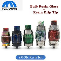 Wholesale beautiful bulbs - Beautiful Resin Bulb Glass Plus Drip Tip Kit Replacement for TFV8 Big Baby X Baby TFV12 TFV12 Prince Tank Atomizer